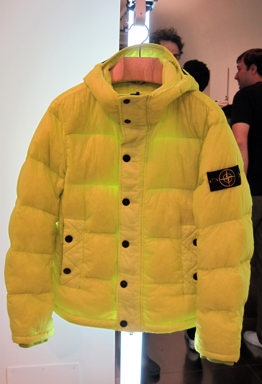Stone Island Yellow Puffer Jacket