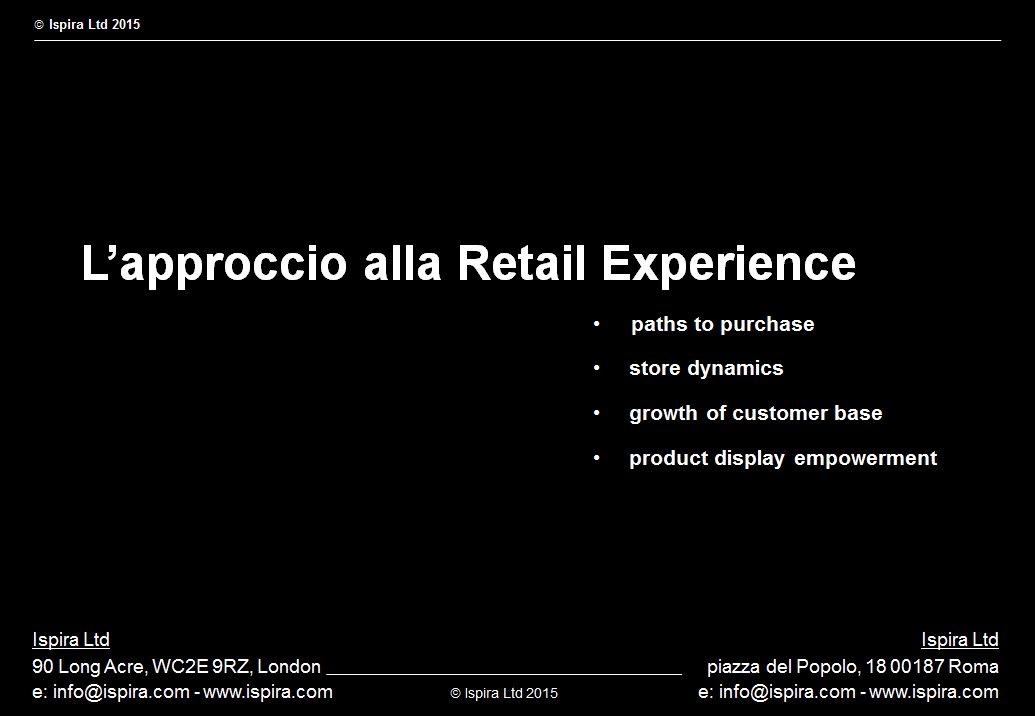Approccio a Visual Merchandising e Retail Experience - Ispira Ltd