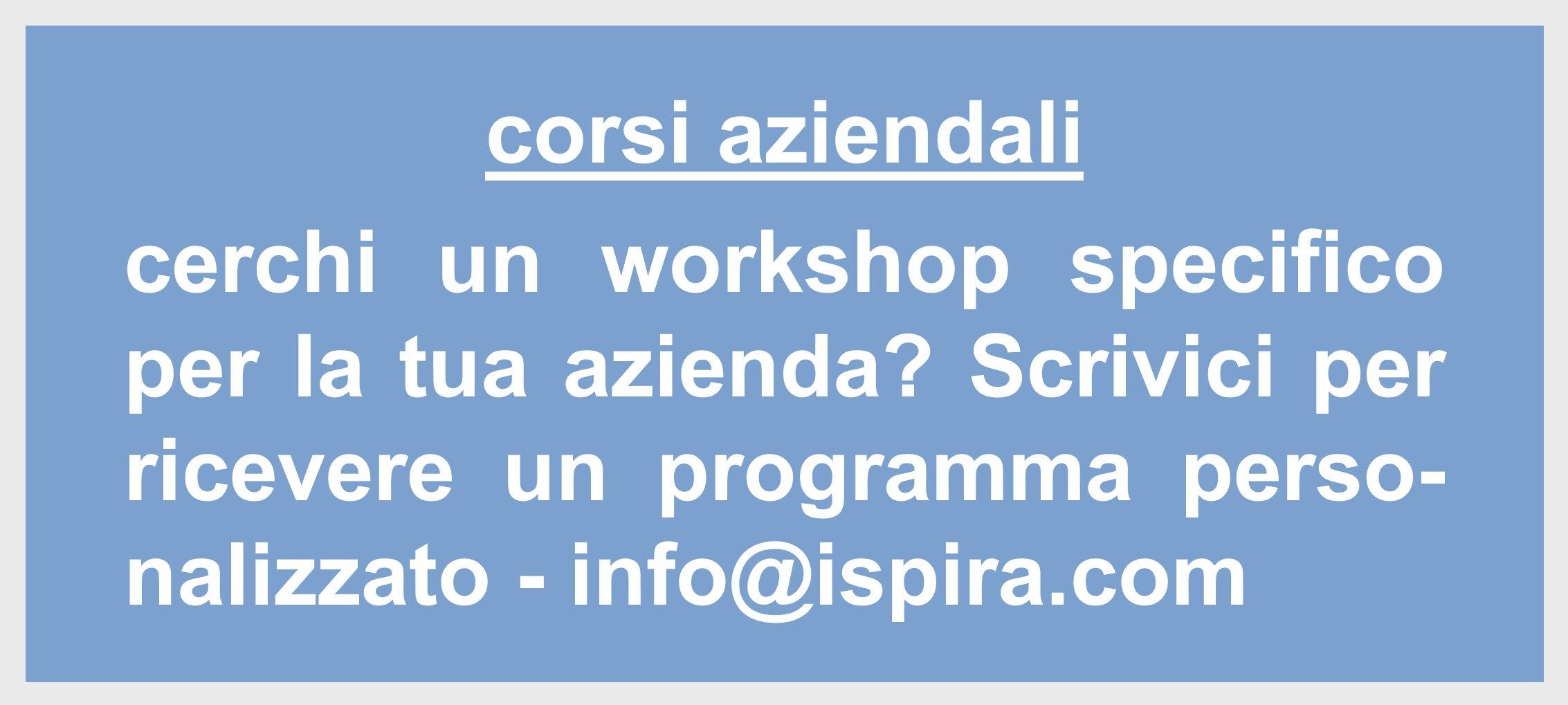Corsi aziendali personalizzati - Ispira Ltd