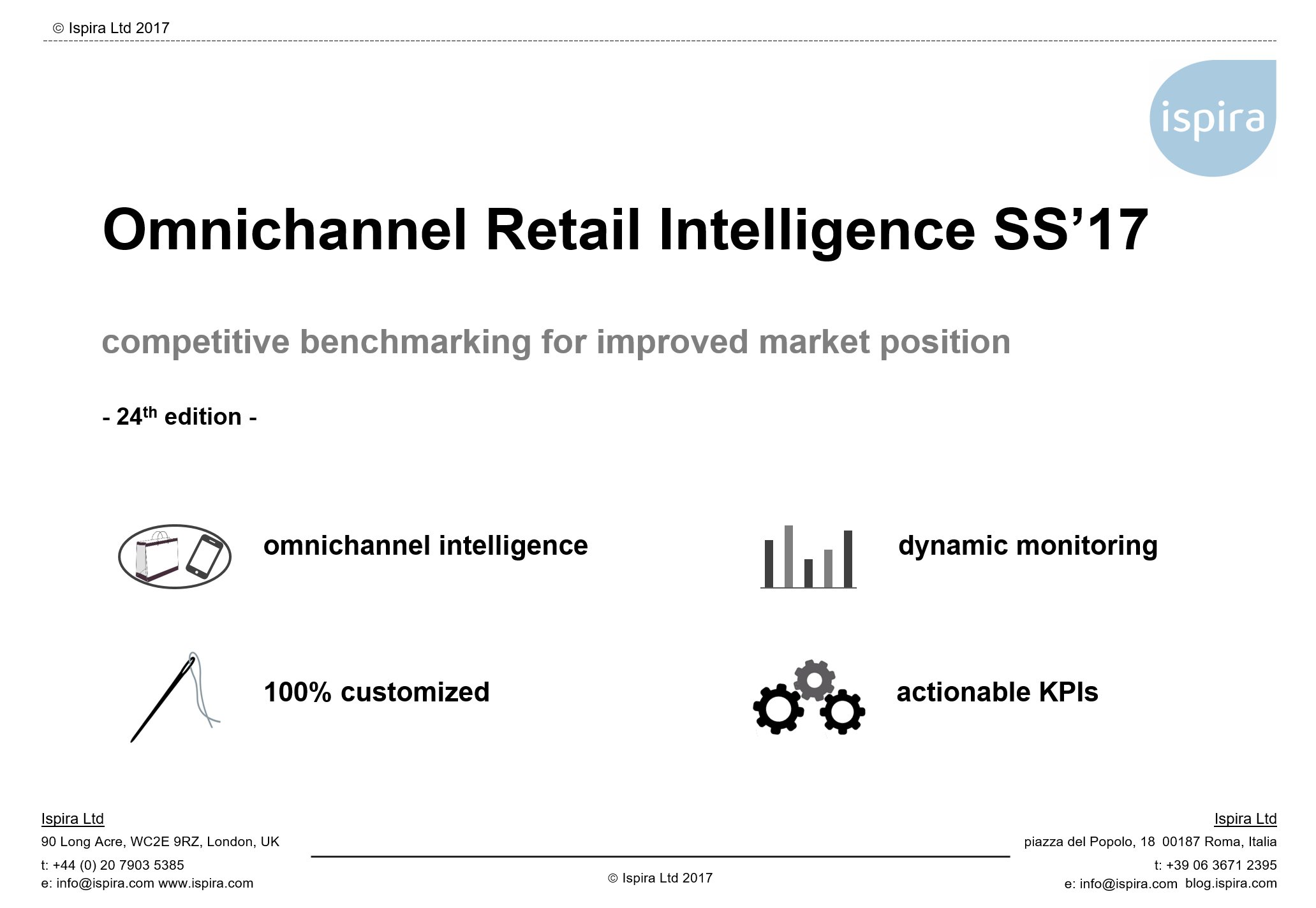 SS 2017 Omnichannel Retail Intelligence - Ispira Ltd