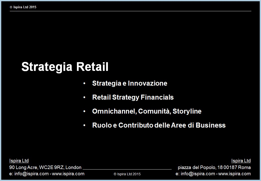 Strategia Retail - Ispira Ltd