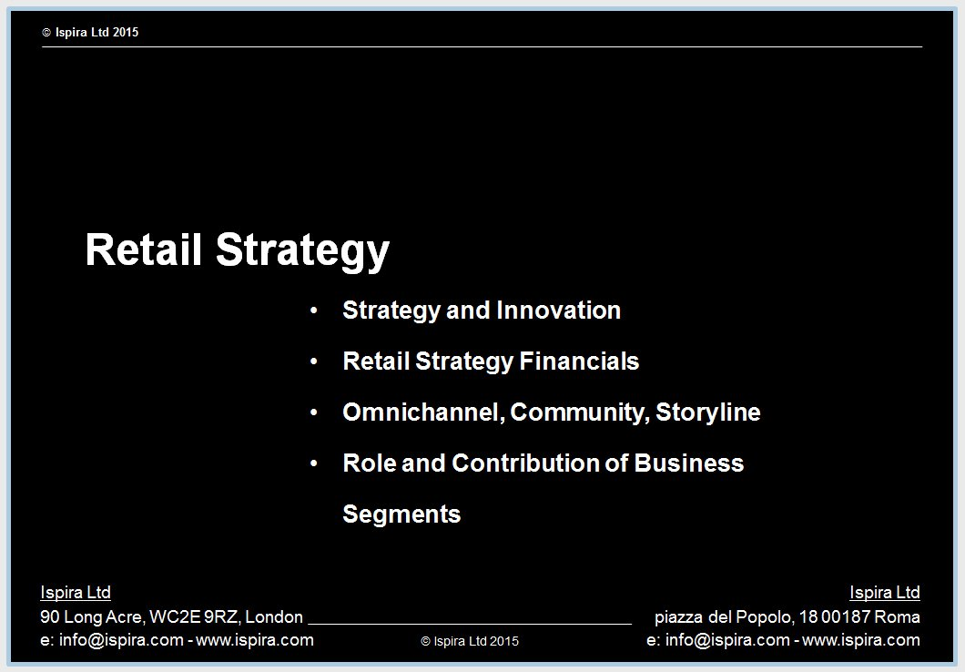 Retail Strategy - Ispira Ltd