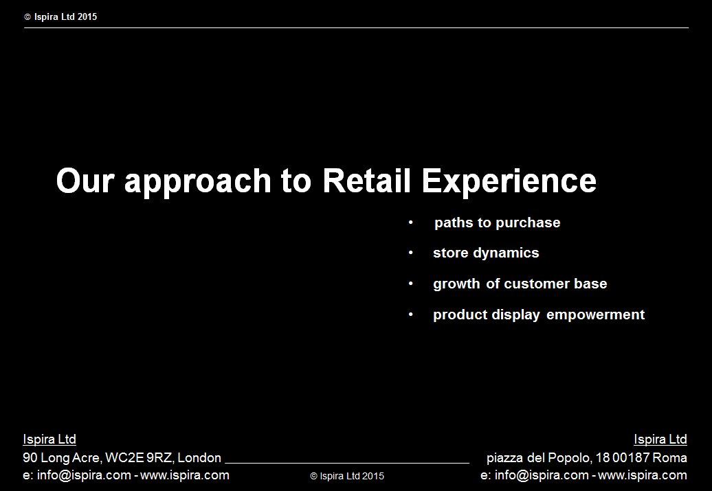 Our Approach to Retail Experience and Visual Merchandising - Ispira Ltd